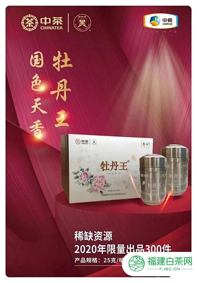 """中茶蝴蝶""""牡丹王""""(5130)上市:国色天香,王者风范"""